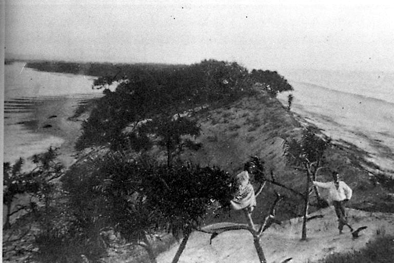 Photo: Beach 20 Jumpinpin, South Stradbroke Island, Queensland, circa 1890 [picture] / Photographer unknown. Asset name LS-LSP-CD064-IMG0118