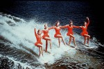Photo: Action 1 The Aquamaids, a star attraction at the Surfers Paradise Ski Gardens on the Nerang River, Queensland, circa 1960 [picture] / Alexander McRobbie, photographer. Asset name LS-LSP-CD011-IMG0043