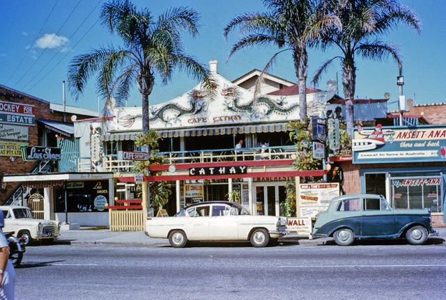 Photo: Entertainment 2 Cafe Cathay restaurant, Pacific Highway, Surfers Paradise, Queensland, circa 1960. G. A. Black, photographer. LS-LSP-CD1010-IMG004