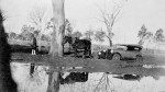 Photo: Events 3 Bogged car being pulled out by a horse at Currumbin, before the Currumbin Bridge was built, Queensland, 1920. Photographer unknown. LS-LSP-CD788-IMG0009